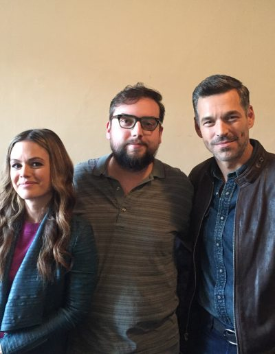 "Rachel Bilson, Scott and Eddie Cibrian on the set of ABC's ""Take Two"""
